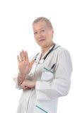 dorosłego lekarki ja target2072_0_ Zdjęcie Stock