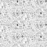 Dorosłego przyjęcia Doodle Bezszwowy wzór ilustracji