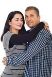 dorosłej pary w połowie portret Zdjęcia Stock