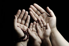 dorosły dziecka modlenia nauczanie fotografia royalty free