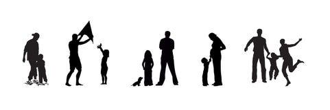 Dorosły i dzieci ilustracja wektor