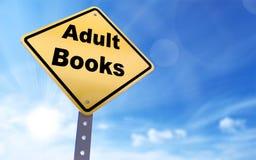 Dorosły książki znak fotografia stock