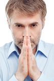 Dorosły mężczyzna modlenie Zdjęcie Stock