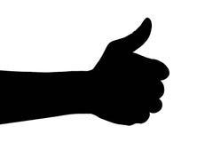 Dorosły mężczyzna ręki kciuk up, ilustracja wektor