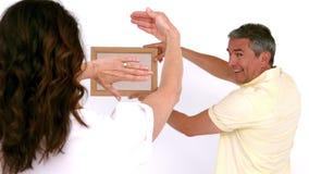 Dorosły pary ustawianie nowy lustro zdjęcie wideo