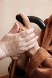 dorosły pomaga szpitalny senior zdjęcie stock