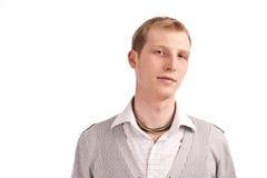 dorosła szara faceta isolate bluza Zdjęcie Stock