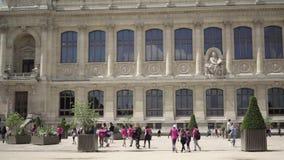 Dorosli i dzieci w ogródzie botanicznym w Paryż zbiory