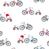 Dorosli i dziecko bicykle 1866 opiera?y si? Karol Darwin ewolucyjnego wizerunku tree bezszwowego wektora ilustracja wektor