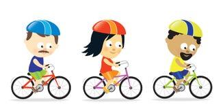 Dorosli jedzie bicykle ilustracji