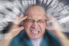Dorosły mężczyzna pod surowym stresem Fotografia Royalty Free