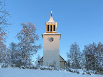 Dorotea Church in winter, Sweden Stock Photo