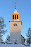 Dorotea Church in winter, Sweden Stock Photo