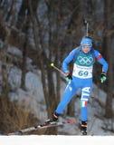 Dorothea Wierer de Italia compite en individuo del ` s el 15km de las mujeres del biathlon en los juegos 2018 de olimpiada de inv Imagen de archivo libre de regalías