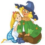 Dorothy και σκιάχτρο Μάγος Oz Στοκ εικόνα με δικαίωμα ελεύθερης χρήσης