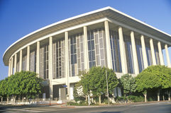 The Dorothy Chandler Pavilion in the city of Los Angeles, California stock photography