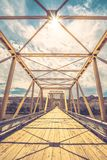 Dorothy Ferry Bridge with Sunburst stock photos
