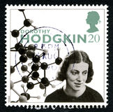 Dorothy Hodgkin UK Postage Stamp Stock Image