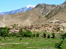 Dorp in Afghanistan Stock Afbeelding