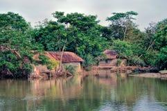 Dorp in Bangladesh royalty-vrije stock foto