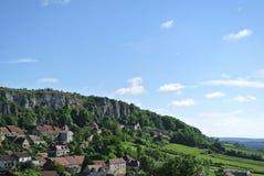 Dorp in Bourgogne - Frankrijk stock fotografie