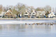 Dorp Broek in Waterland in Nederland Stock Afbeelding