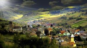Dorp Buzd Transilvania Roemenië Royalty-vrije Stock Foto's