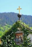 Dorp in de Alpen Stock Fotografie