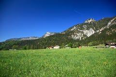 Dorp in de Alpen Stock Afbeeldingen