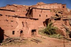 Dorp in de Atlasbergen van Marokko Stock Afbeelding