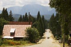 Dorp in de bergen Royalty-vrije Stock Afbeelding