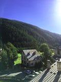 Dorp in de bergen, Alpen Frankrijk Royalty-vrije Stock Foto