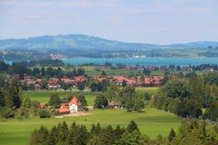 Dorp in de Europese Alpen Royalty-vrije Stock Foto's