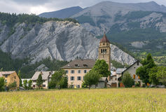 Dorp in de Franse Alpen Stock Foto's