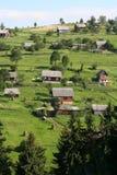 Dorp in de Karpaten Royalty-vrije Stock Foto's