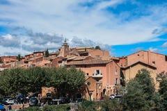 Dorp DE Roussillon, de Provence et Luberon stock afbeelding