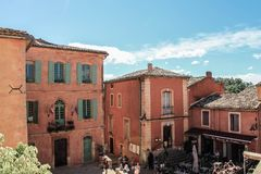Dorp DE Roussillon, de Provence et Luberon royalty-vrije stock foto