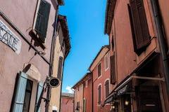 Dorp DE Roussillon, de Provence et Luberon royalty-vrije stock foto's