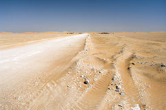 Dorp in de woestijn, Oman royalty-vrije stock fotografie