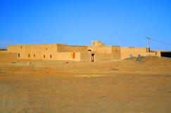 Dorp in de Woestijn van de Sahara Stock Foto