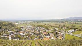 Dorp in een Vallei in Duitsland royalty-vrije stock fotografie