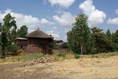 Dorp in Ethiopië Stock Afbeelding