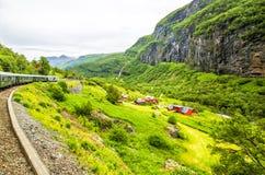 Dorp in Flam noorwegen Royalty-vrije Stock Foto
