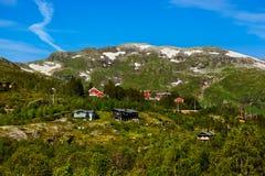 Dorp in Flam - Noorwegen stock fotografie