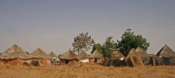 Dorp in Gambia, Afrika Stock Afbeelding