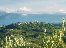 Dorp genoemde Villamagna in de Provincie van Chieti (Italië) stock foto