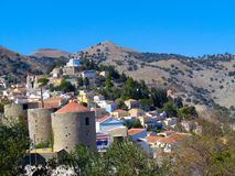 Dorp in Griekenland royalty-vrije stock foto's