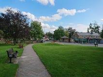 Dorp groen in Ponteland-Dorp, Northumberland, Engeland stock afbeelding