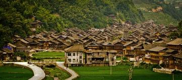 Dorp in Guizhou, China stock foto's