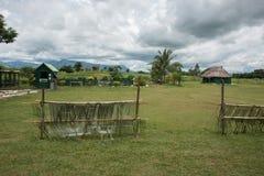 Dorp in Haven Denarau stock foto's